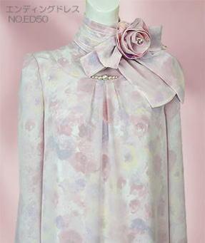 エンディングドレス店長のお勧め、ピンクの花柄ドレス